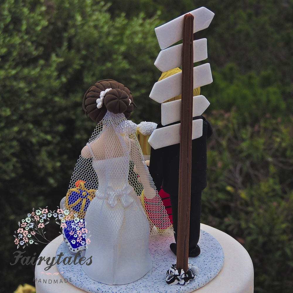 beer wedding cake topper and mascots wedding cake topper fairytales handmade 11259