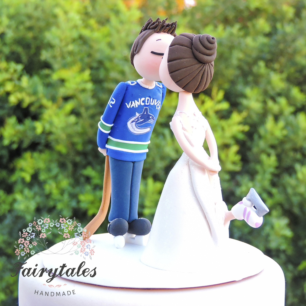 Hockey Wedding Cake Topper | Fairytales Handmade